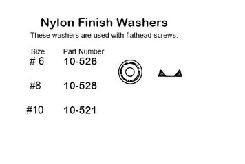 """Philmore 10-528 Nylon Finish Washer, #8 , 8 Pack"" (lkg_10-528)"