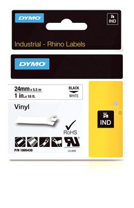 "Vinyl Label, Black on White, 1"" (1805430)"