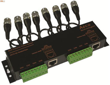 8 CHANNEL PASSIVE VIDEO BALUN w/ Cable Leads azco_AZBLNP108C