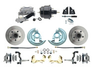 DBK6472-GM-709 1964-1972 Chevelle, El-Camino 1967-1969 Camaro & 1968-1974 Nova Disc Brake Conversion Kit Powder Coated Black Booster