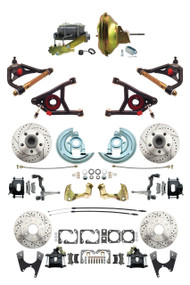 "Details about  GM 1967-72 A-Body Front & Rear Black Disc Brake, 11"" Power & Control Arm Package"