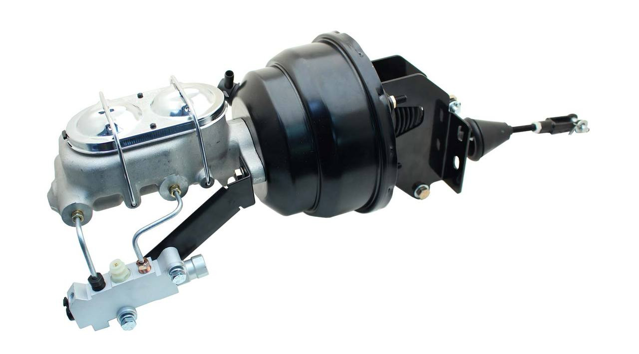 "1957-77 Ford F-100 F-150 Truck 8/"" Zinc Brake Booster Conversion Kit Disc// Drum"