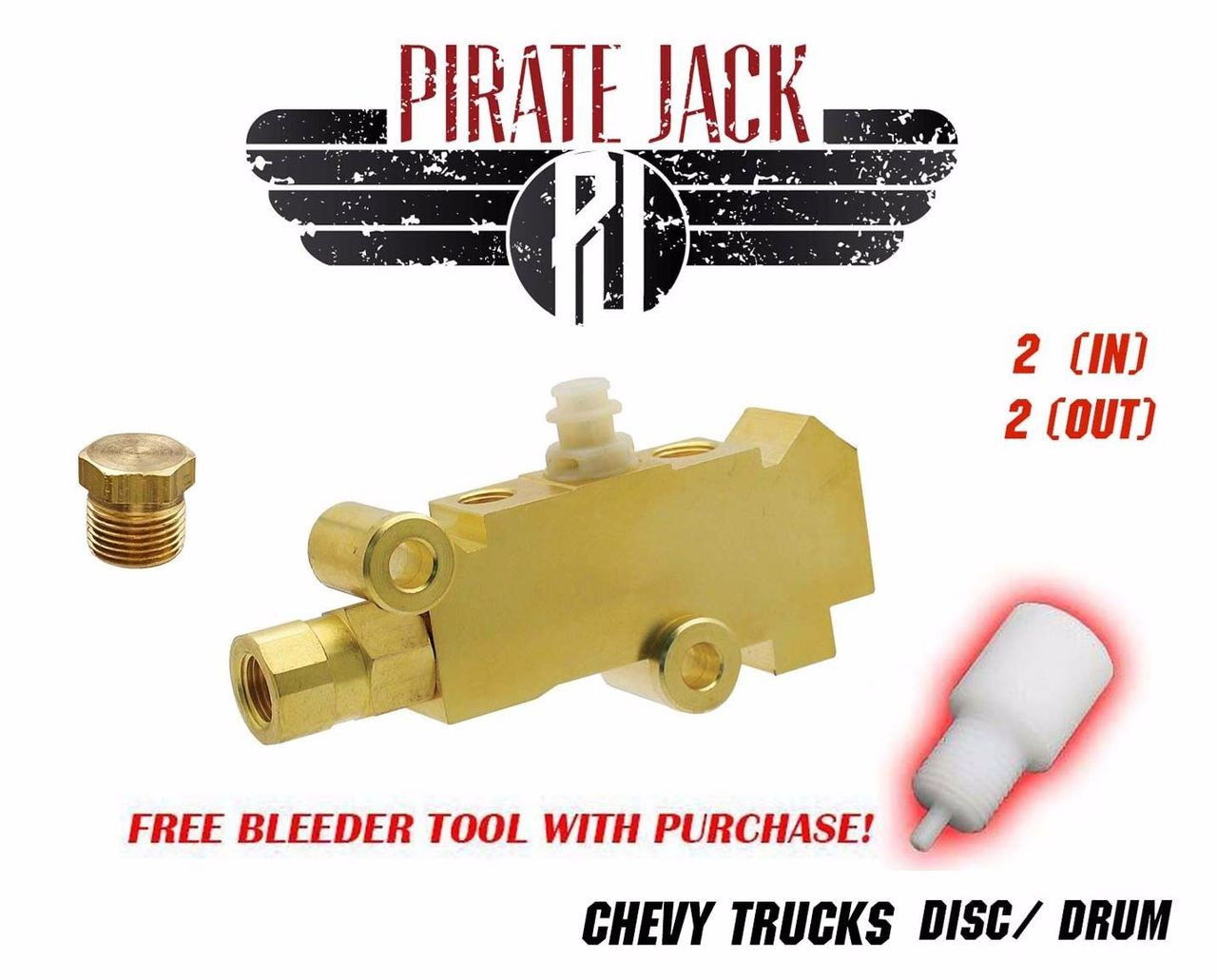 Chevy GMC Chevrolet Truck Proportioning Valve Disc//Disc