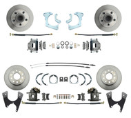 DBK59641012FS - 1959-1964 Full Size Chevy Complete Front & Rear Disc Brake Kit Standard Calipers