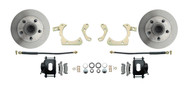 DBK6568B - 1965-1968 Full Size Chevy Complete Disc Brake Conversion Kit w/ Powder Coated Black Calipers
