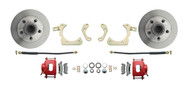 DBK6568R - 1965-1968 Full Size Chevy Complete Disc Brake Conversion Kit w/ Powder Coated Red Calipers