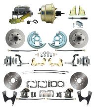 "DBK67691012-GM-215 - 1967-1969 Camaro/ Firebird & 1968-1974 Chevy Nova Front & Rear Power Disc Brake Conversion Kit Standard Rotors w/ 8""Dual Zinc Booster Kit"