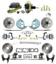 "DBK67691012-GM-217 - 1967-1969 Camaro/ Firebird & 1968-1974 Chevy Nova Front & Rear Power Disc Brake Conversion Kit Standard Rotors w/ 9"" Dual Zinc Booster Kit"
