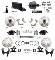 DBK5868LXWB-WIL-30 - 1958-68 Fullsize Chevy Front & Rear Wilwood Disc Brake Kit, Black Wilwood Calipers