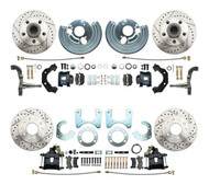 DBK6272834LXB - 1962-1972 Mopar B&E Body High Performance Disc Brake Conversion Kit w/ Powder Coated Black Calipers