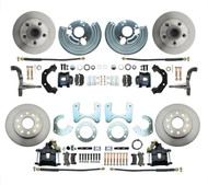DBK6272834B - 1962-1972 Mopar B&E Body Standard Disc Brake Conversion Kit w/ Powder Coated Black Calipers