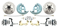 DBK6769LX  - 1967-1969 Camaro/ Firebird & 1968-1974 Chevy Nova Stock Height Front Disc Brake Kit w/ Drilled & Slotted Rotors
