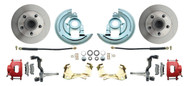 DBK6769R  - 1967-1969 Camaro/ Firebird & 1968-1974 Chevy Nova Stock Height Front Disc Brake Kit Red Calipers
