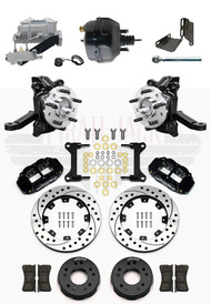 "1963-1970 Chevrolet C10/ GMC C15 2"" Drop Wilwood Disc Brake Kit 4 Piston Caliper 8"" Bendix Booster Conversion Kit"