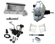 "1958-74 Fullsize Chevy Cars 9"" Chrome Wilwood Power Brake Booster Kit"