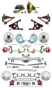 "GM 1967-72 A-Body Front & Rear Disc Brakes 11"" Power & Control Arm Package Currie 9"" Rear End"