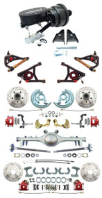 "GM 1967-72 A-Body Front & Rear Disc Brakes 8"" Dual Wilwood Booster & Control Arm Package Currie 9"" Rear End"