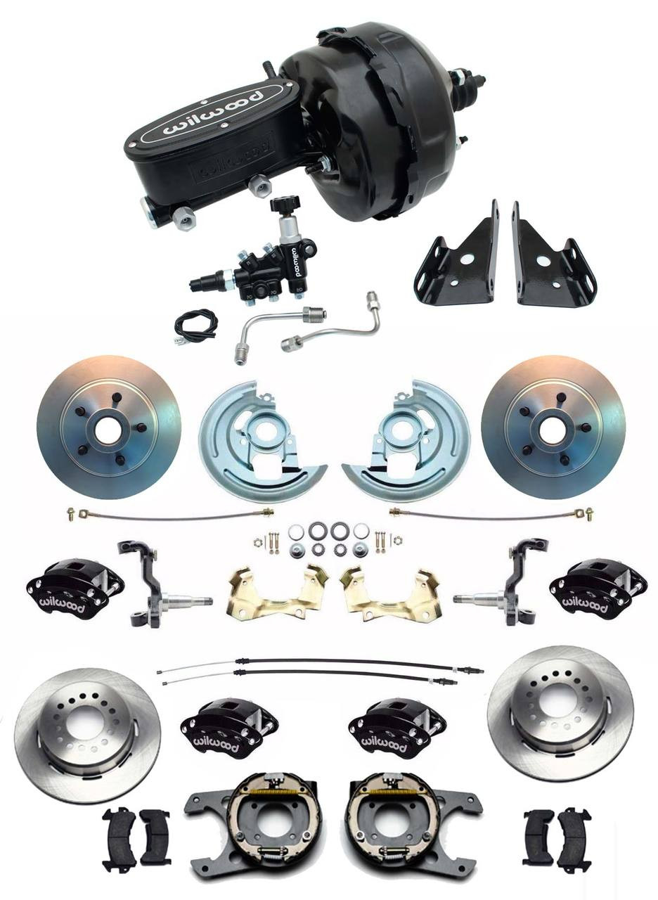 "1964-72 Chevelle 8/"" Dual Blk Booster Conversion Kit Wilwood Master Cylinder Kit"