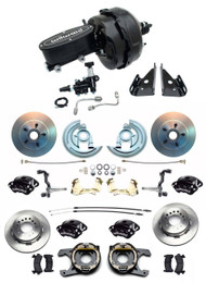"1964-1972 GM A Body Wilwood Disc Brake Kit w/9"" Dual Power Brake Booster"