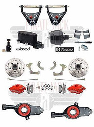 1965-68 Chevy Impala Disc Brake Kit & Red Wilwood Calipers, 4 Piece Control Arms