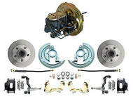 1967-1969 Camaro OE Style Power Brake Booster & Stock Disc Brake Kit, Black PC