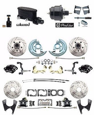 "2"" Drop Wilwood Front & Rear Disc Brake Kit Booster Conversion Kit, GM 64-72"