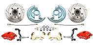"2"" Drop Wilwood Red Calipers Disc Brake Conversion Kit, GM 1967-69 Camaro"