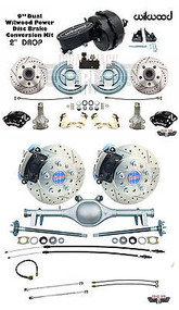 "64-66 GM A Body Chevelle Currie 9"" Rear End Front & Rear Disc Brake Kit Wilwood"