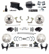 Chevy BelAir 55-58 Front & Rear Wilwood Disc Brake Kit Booster Conversion Kit