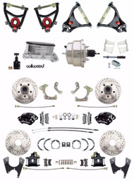 Wilwood 1955-57 4 Wheel Chrome Power Disc Brake Conversion & Control Arm Package