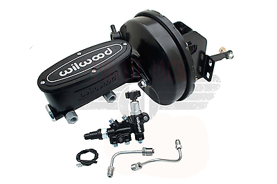 68-74 Chevy Nova Wilwood Master Cylinder Black 7 Power Brake Booster