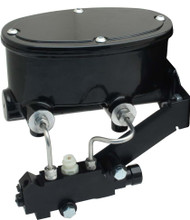 Black Aluminum Oval Tandem Master Cylinder Kit for Disc Disc