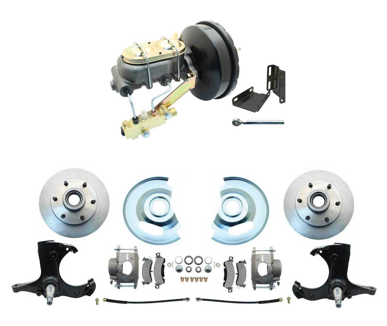 1963-1970  CHEVY C10 TRUCK DISC BRAKE STOCK HEIGHT SPINDLES
