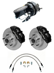 "1957-1967 Ford Truck 6 Piston Wilwood Disc Brake Kit & 9"" Blackout Dual Power Brake & Disc/ Disc Wilwood Assembly F-Series"