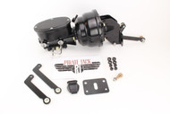 "Mopar B & E Body 8"" Dual Black Out Oval Master Cylinder & Prop Valve Kit"