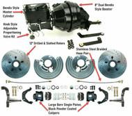 "Deluxe Mopar 11"" Disc Brakes w/ Manual to Power Bendix Style Conversion Kit"