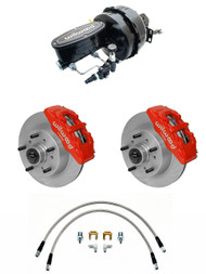 "1957-1967 Ford Truck 6 Piston Wilwood Disc Brake Kit & 9"" Dual Power Booster &  Wilwood Assembly F-Series"