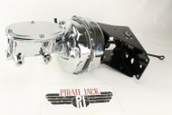 """1966-77 Ford Bronco 9"""" Dual Power Brake Booster & Master Cylinder Chrome"""