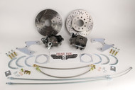 1955-1968 Impala/ Bel Air Rear Disc Brake Kit Drilled/ Slotted Rotors