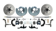 DBK6272A-40-B - 1962-1972 Mopar A Body Small Bolt Pattern Standard Disc Brake Conversion Kit w/ Powder Coated Black Calipers