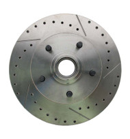 1964-1972 GM A, F, X Body & 1955-1964 Full Size Chevy Drilled/Slotted Rotor (Passenger Side)