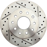 1974-1978 Mustang II Drilled/ Slotted Rear Rotor Drilled for GM/ Ford Stud Pattern (Passenger Side)