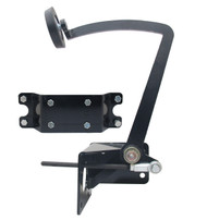 PRAU2831PC - Universal Frame Mount Pedal. Black Powder-Coated. Based on Early Ford 1928-1931