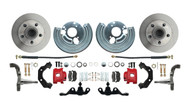 DBK6272A-45-R - 1962-1972 Mopar A Body Large Bolt Pattern Standard Disc Brake Conversion Kit w/ Powder Coated Red Calipers