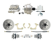 "DBK5558-GMFS1-310 1955-1958 Chevy Impala, Bel-Air Biscayne  8"" Dual Chrome Power Disc Brake Conversion Kit Plain Rotors"