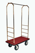 Easy-Mover Brasstone Series Bellman Cart, Hotel Luggage Cart
