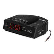 Conair WCR14 Hotel Alarm Clock Radio with USB Charging Port