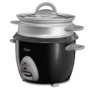 Oster 6 Cup Rice Cooker with Steam Tray and Auto-Off