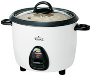 Rival RC101 10 Cup Rice Cooker with Steamer, White