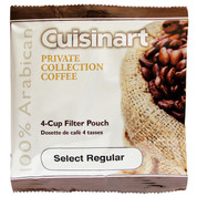 Cuisinart SELECT Private Collection Coffee 4-cup Filter Pouch Regular, .45 oz, Case of 100